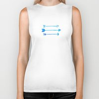 arrows Biker Tanks featuring Arrows by Corina Rivera Designs