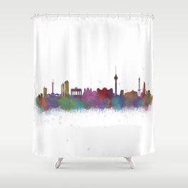 Berlin City Skyline HQ4 Shower Curtain