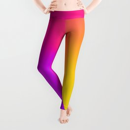 Abstract Summer Impression Leggings