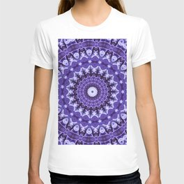 Kaleidoscope Purple Silk T-shirt
