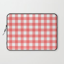 Red gingham fabric cloth, seamless pattern Laptop Sleeve