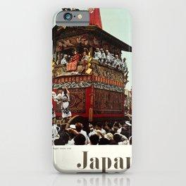 retro plakat Japan Tourist Association Gion Festival Kyoto iPhone Case