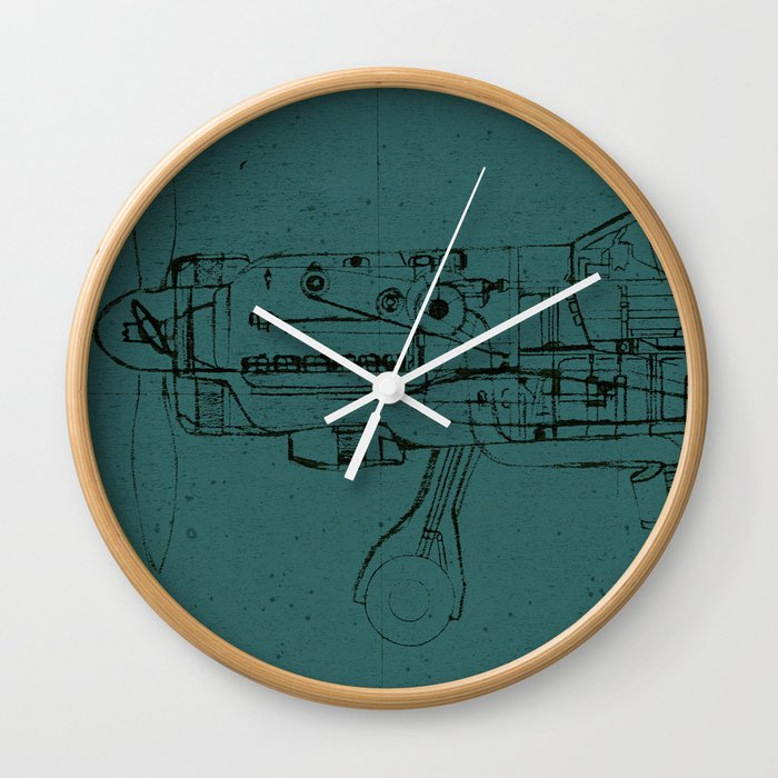 Fw 190 Colour Wall Clock By Onecuriouschip Society6