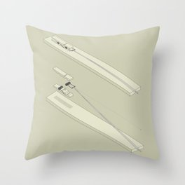 Clothespin shotgun Throw Pillow