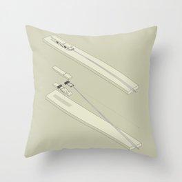 Clothespin shotgun Throw Pillow
