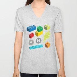 Colourful Building Blocks Unisex V-Neck