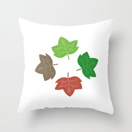 Cycle Of Leaves Throw Pillow