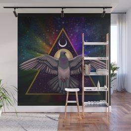 Rainbow pigeon Wall Mural