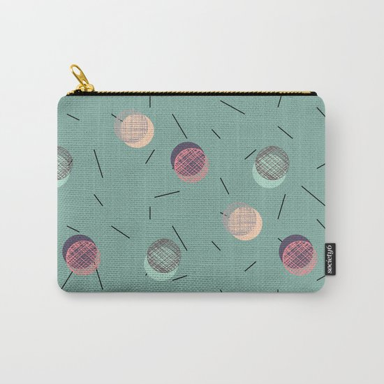Scrawled Polka Dots and Sticks Carry-All Pouch