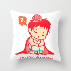 The Emperor Sleeps Throw Pillow