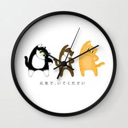 Stay healthy / Illustration Wall Clock