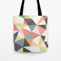 deco Tote Bags featuring Deco Tris by Beth Thompson