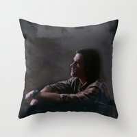 sam smith Throw Pillows featuring Sam by LindaMarieAnson