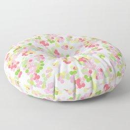 Pointillism . Pink and green . Floor Pillow