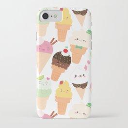 Kawaii Happy Ice Creams iPhone Case