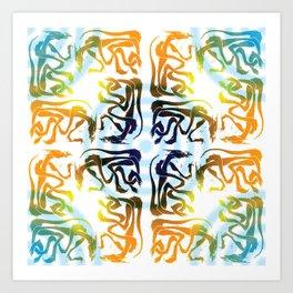 Dragon Stamp Pattern Art Print