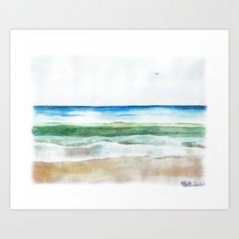 Ocean Watercolor Art Print