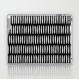 Classy Handpainted Stripes Pattern Black, Scandinavian Design Laptop & iPad Skin