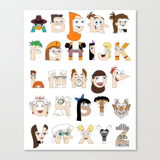 P&F Alphabet Canvas Print