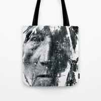 be brave Tote Bags featuring Brave  by C A R E Y  M O R T O N