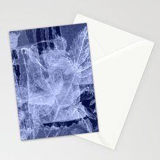 blue fozen leaves Stationery Cards