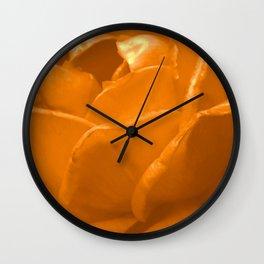 Yellow Rose II Wall Clock
