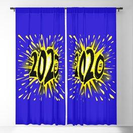 2020 Cartoon Explosion Blackout Curtain