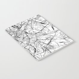 Moscow White Map Notebook