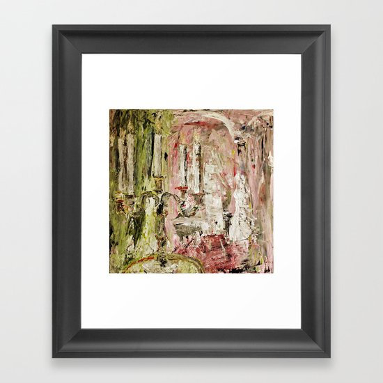 Le bougeoir (la touche feminine) Framed Art Print