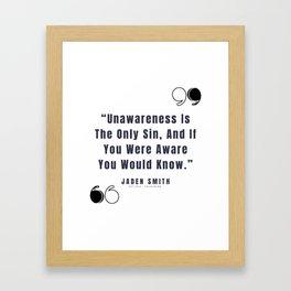 15      Jaden Smith Quotes   190904 Framed Art Print