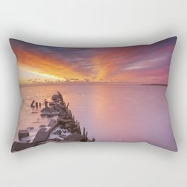 Sunrise over sea on the island of Texel, The Netherlands Rectangular Pillow