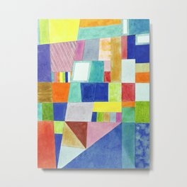 Colorful Abstract with Slantings and Windows Metal Print