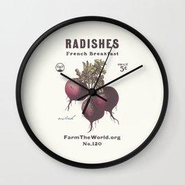 Farm the World Radish Seed Packet Wall Clock
