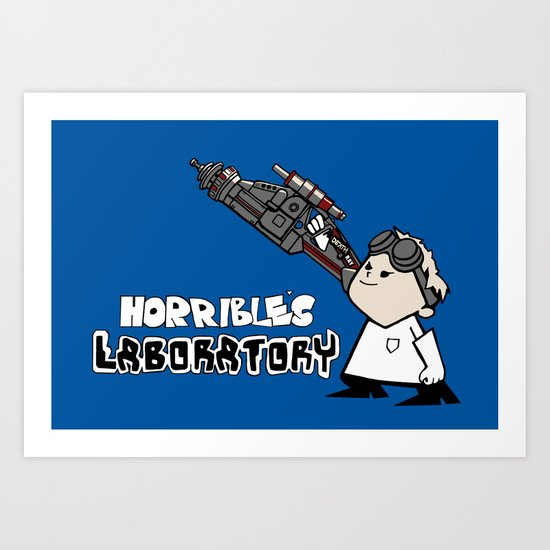Horrible's Laboratory Art Print