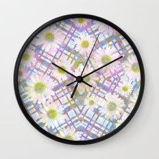Daisy Plaid Wall Clock
