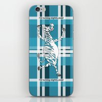 zebra iPhone & iPod Skins featuring Zebra  by mailboxdisco