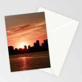 Boston Sunset Stationery Cards