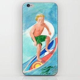 blond surfer iPhone Skin