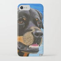 rottweiler iPhone & iPod Cases featuring Rottweiler by paintintheneck