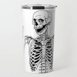 Rock and Roll Skeleton Travel Mug