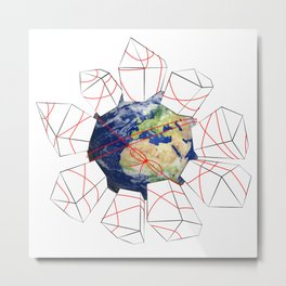 Wrapped to a Warped World Metal Print