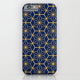 Traditional Japanese Pattern - blue, orange iPhone Case