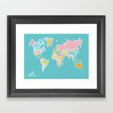 Map Print Framed Art Print