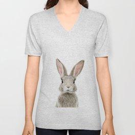 Bunny Portrait Unisex V-Neck