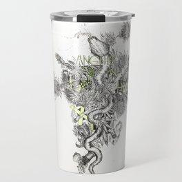 ANGUIS IN HERBA: Snake in Weed Travel Mug