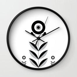 Retro Nordic Black & White Wall Clock