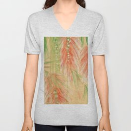 red weeping willow Unisex V-Neck