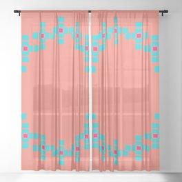 """""""Aurora"""" series #4 Sheer Curtain"""