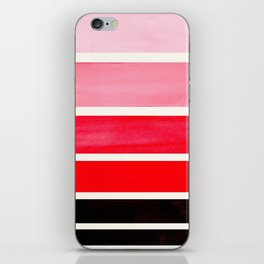 Red Minimalist Mid Century Modern Color Fields Ombre Watercolor Staggered Squares iPhone Skin