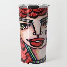 JennyMannoArt Colored Illustration/Lucy Travel Mug